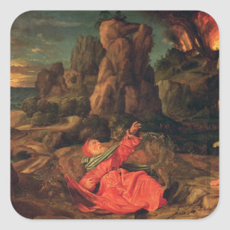 The Temptation of St. Anthony, c.1530 Square Sticker