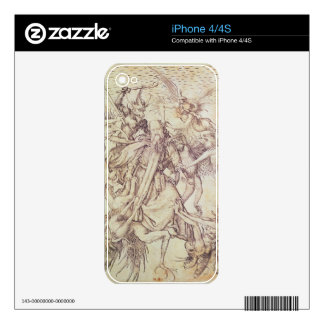 The Temptation of St. Anthony (engraving) Decals For The iPhone 4S