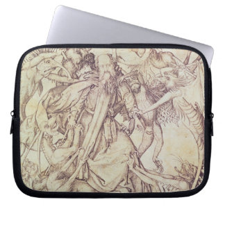 The Temptation of St. Anthony (engraving) Laptop Sleeve