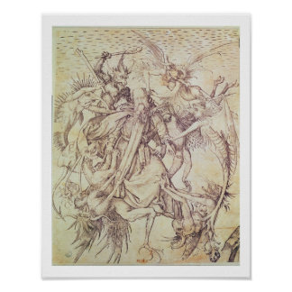 The Temptation of St. Anthony (engraving) Poster