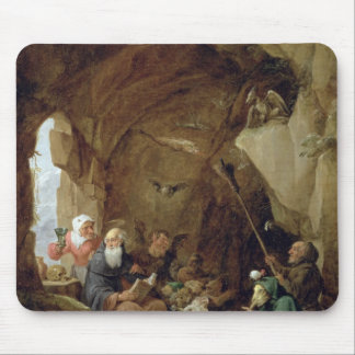 The Temptation of St. Anthony in a Rocky Cavern Mouse Pad