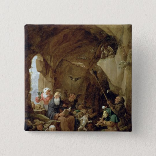 The Temptation of St. Anthony in a Rocky Cavern Pinback Button