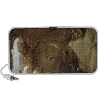 The Temptation of St. Anthony in a Rocky Cavern Travelling Speaker