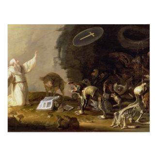 The Temptation of St. Anthony (panel) Postcard