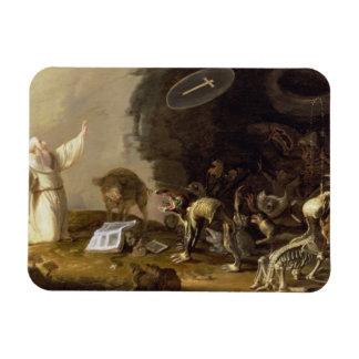 The Temptation of St. Anthony (panel) Rectangular Photo Magnet