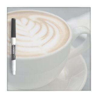 The tempting grains of cappuccino latte art Dry-Erase board