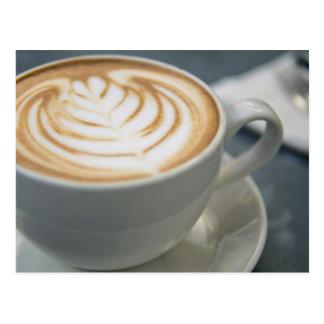 The tempting grains of cappuccino latte art postcard