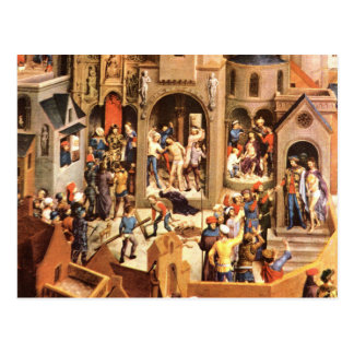 The temtation of Christ painting old masters Postcard