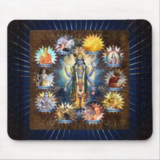 The Ten Avatars Of Vishnu - Mousepad