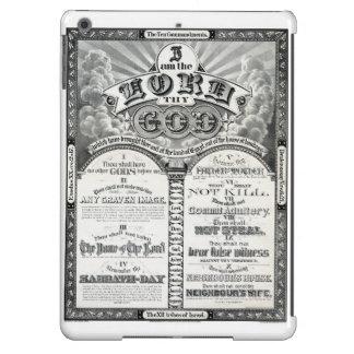 The Ten Commandments 1876 Vintage Poster Restored iPad Air Cover