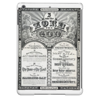 The Ten Commandments 1876 Vintage Poster Restored Case For iPad Air