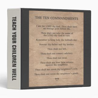 The Ten Commandments 3 Ring Binder