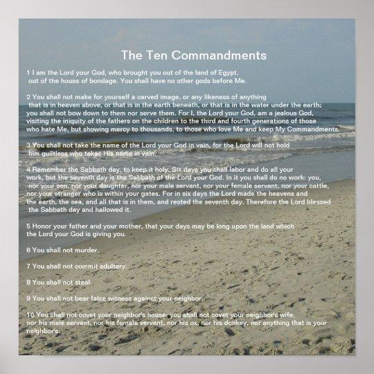 The Ten Commandments #9 Poster