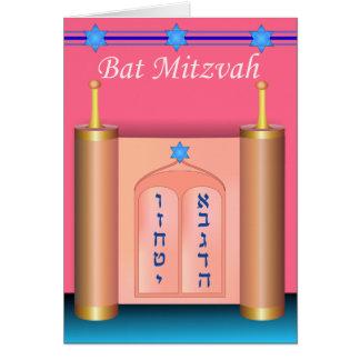 The Ten Commandments Bat Mitzvah Card
