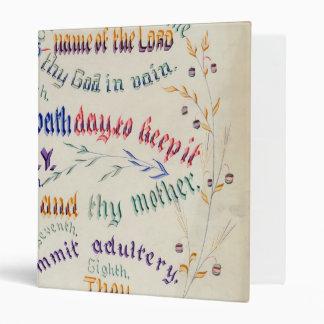 The Ten Commandments binder
