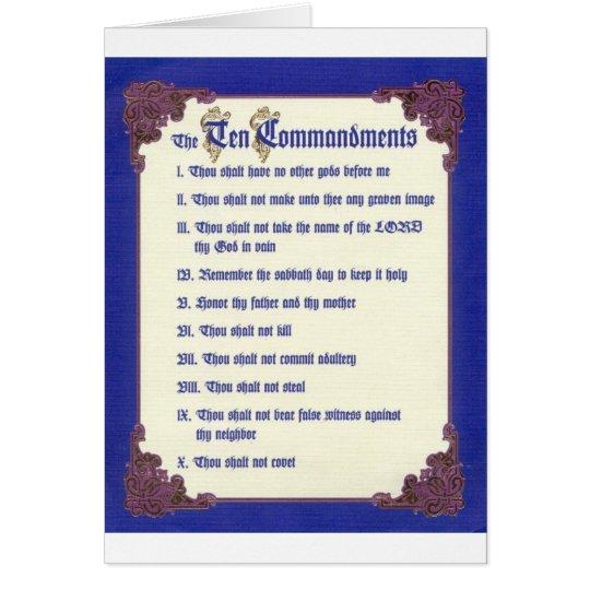THE TEN COMMANDMENTS CARD