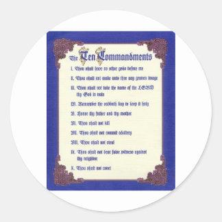 THE TEN COMMANDMENTS CLASSIC ROUND STICKER