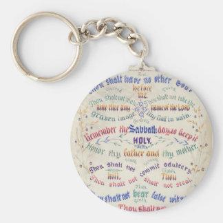 The Ten Commandments keychain