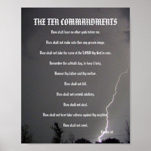The Ten Commandments - Lightning Poster