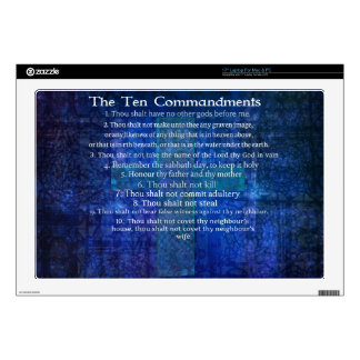 """The Ten Commandments Listed Decal For 17"""" Laptop"""