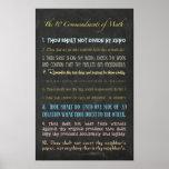 """The Ten Commandments of Math Poster<br><div class=""""desc"""">The Ten Commandments of Math</div>"""