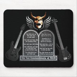 the ten commandments OF rock Mouse Pad