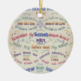 The Ten Commandments ornament