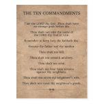 The Ten Commandments Post Cards