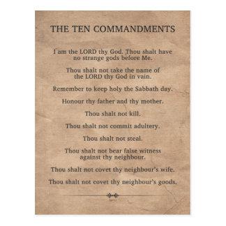 The Ten Commandments Postcard