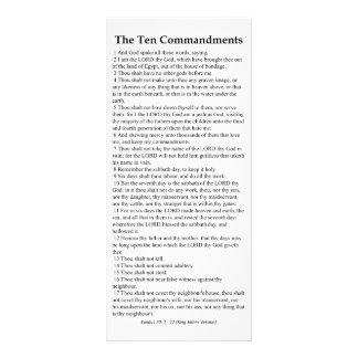 The Ten Commandments Prayer Card Customized Rack Card