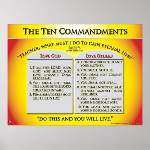 The Ten Commandments Print