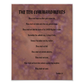 The Ten Commandments - Red Spotted Poster