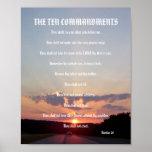 The Ten Commandments - Sunset #3 Poster