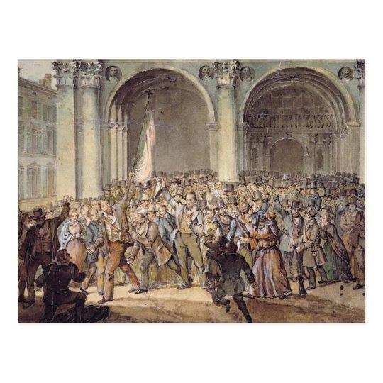 The Ten days of Brescia, after 1849 Postcard