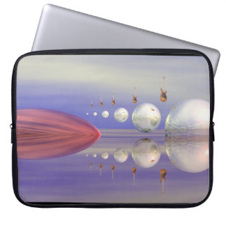 The ten guitars surreal abstract  Laptop Bag Laptop Sleeve