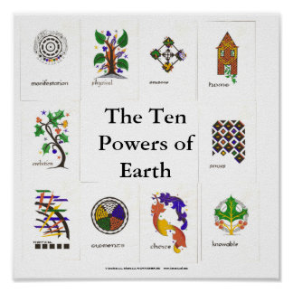 The Ten Powers of Earth Poster