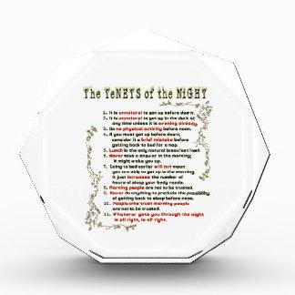 The Tenets of the Night Acrylic Award