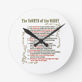 The Tenets of the Night Round Clock