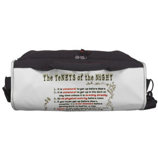 The Tenets of the Night Laptop Computer Bag