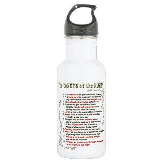 The Tenets of the Night 18oz Water Bottle