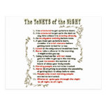 The Tenets of the Night Post Cards