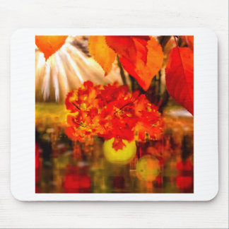 The tennis ball is adorned for Fall. Mouse Pad