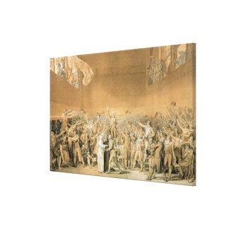 The Tennis Court Oath, 20th June 1789, 1791 2 Canvas Print