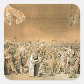 The Tennis Court Oath, 20th June 1789, 1791 2 Square Sticker