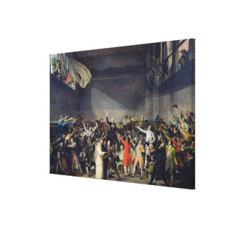The Tennis Court Oath, 20th June 1789, 1791 Canvas Print