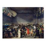 The Tennis Court Oath, 20th June 1789, 1791 Postcard