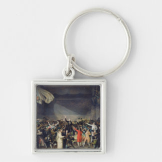 The Tennis Court Oath, 20th June 1789, 1791 Silver-Colored Square Keychain