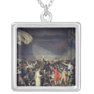 The Tennis Court Oath, 20th June 1789, 1791 Silver Plated Necklace