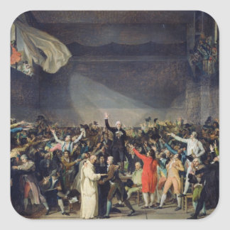 The Tennis Court Oath, 20th June 1789, 1791 Square Sticker