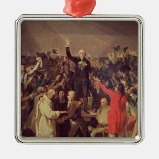 The Tennis Court Oath Metal Ornament